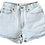 Thumbnail: Vintage Levi's Light Blue Wash High Rise Shorts - Sz 29/30
