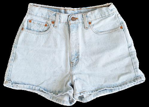 Vintage Levi's Light Blue Wash High Rise Shorts - Sz 29/30