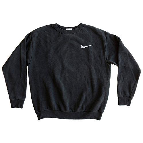 Vintage 90s Nike Black Embroidered Swoosh Crewneck Sweatshirt