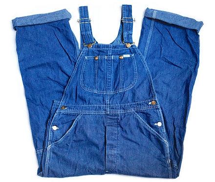 Vintage 80s/90s Lee Dark Wash BlueDenim Overalls / Jeans / Pants - S Small