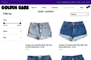 Golden Garb Vintage High Waisted Levi's Jeans And Shorts