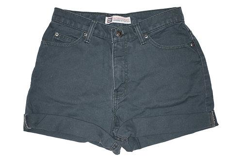 Vintage Gray Wash High Rise Cuffed Shorts - Sz 25/26