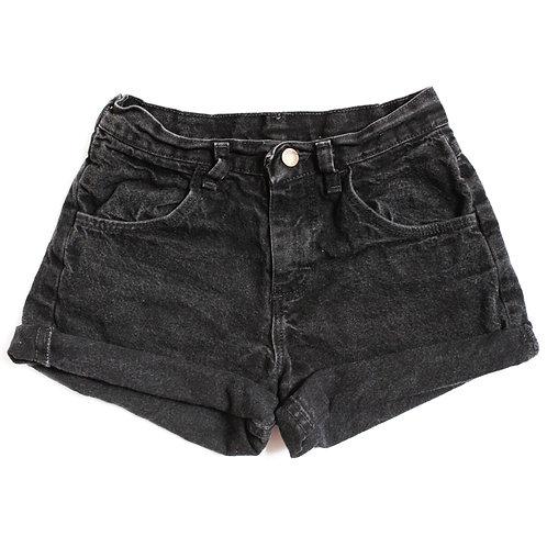 Vintage Lee Black High Rise High Rise Shorts - 23