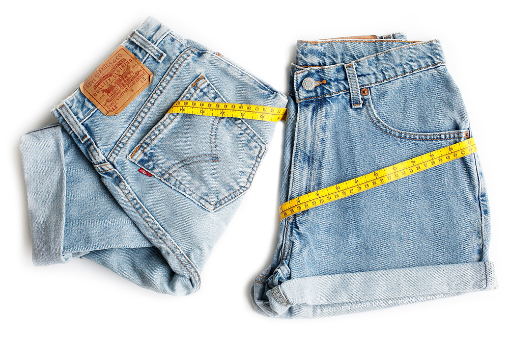 How To Measure / Size Vintage High Waisted Jeans And Shorts