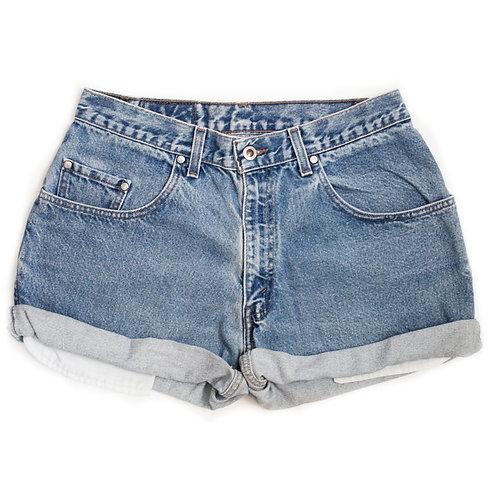 Vintage Levi's Medium Wash High Rise Denim Cuffed Shorts - 30/31