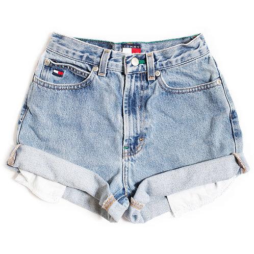 Vintage Tommy Hilfiger Light High Rise Denim Shorts - 20