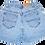 Vintage Lee Light Blue Wash High Waisted Denim Shorts - Back