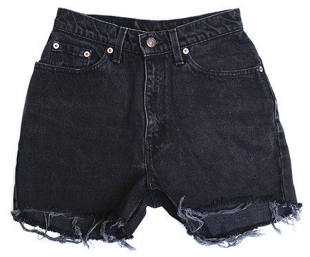 Vintage Levi's Black High Rise Cut Off Denim Shorts - 24