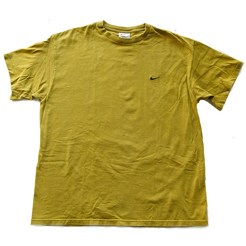 Vintage 90s Nike Green Embroidered Swoosh Tee - L