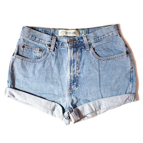 Vintage GAP Light Wash High Rise Cuffed Shorts - 28/29