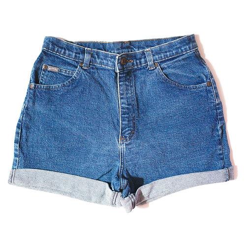 Vintage Lee Medium Wash High Rise Cuffed Shorts - 29