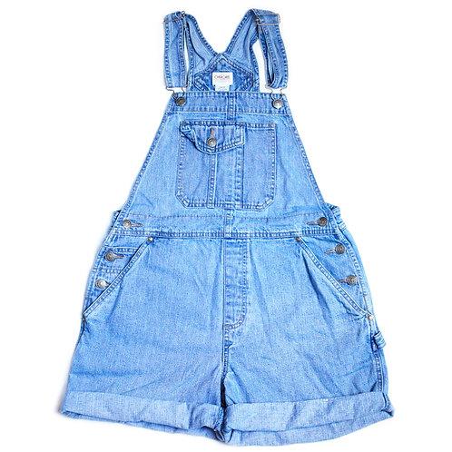 Vintage 90s Cherokee Carpenter Blue Denim / Jean Shortalls / Overalls / Shorts - S