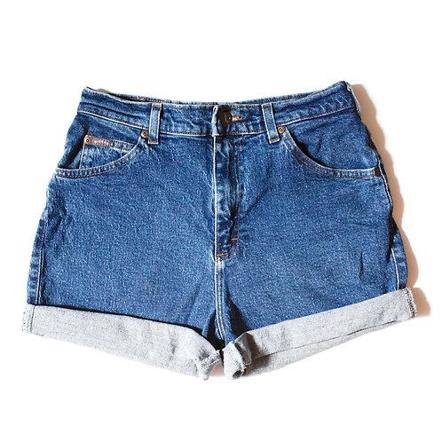 Vintage Lee Medium Wash High Rise Cuffed Shorts - 30/31