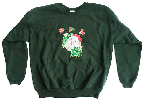 Vintage Ugly Christmas Party Santa Sweater - L