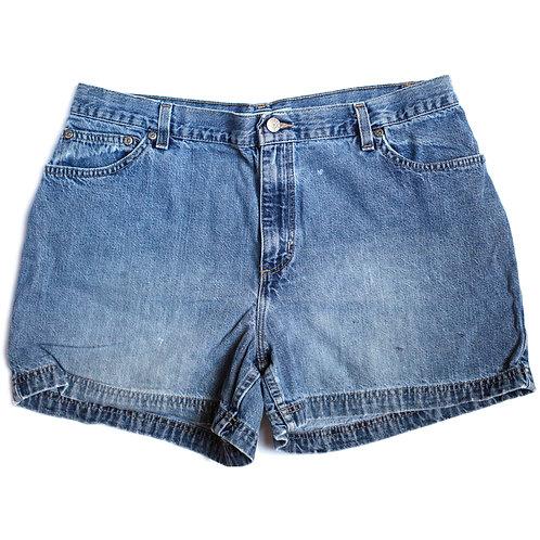 Vintage High Rise Denim Shorts - 33/34