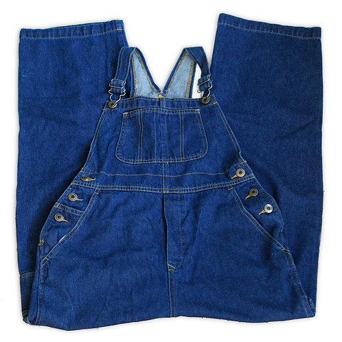Vintage 90s Faded Glory Dark Blue Wash Long Pants Denim Jeans Pants Overalls
