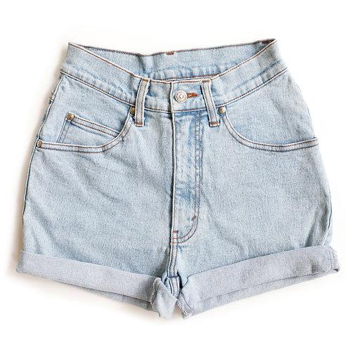 Vintage Levi's Light Wash High Rise Stretch Denim Shorts - 25