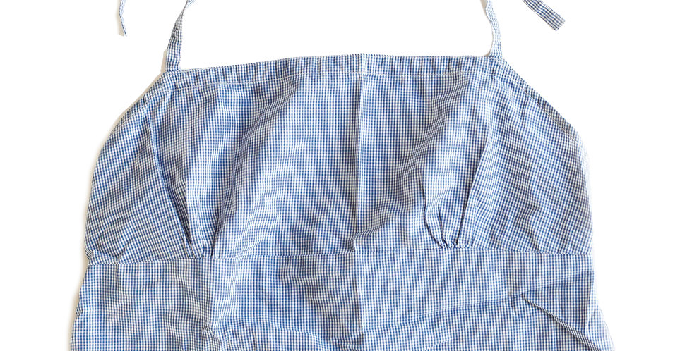 Vintage 90s Ralph Lauren Polo Jeans Co.Blue and White Gingham Cropped Halter Top