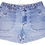 Thumbnail: Vintage Light/Medium Blue Wash High Rise Cuffed Shorts - Sz 28/29