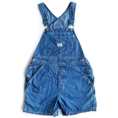 Vintage 90s Old Navy Denim Shortalls - S
