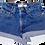 Vintage Levi's Dark Wash High Rise Cuffed Shorts - Sz 25