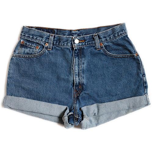Vintage Levi's Medium Wash High Rise Denim Shorts - 32
