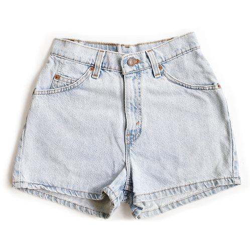 Vintage Levi's Light Wash High Rise Denim Shorts - 23