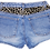 Vintage Leopard Print Mid High Rise Denim Shorts - Back