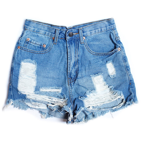 Vintage High Rise Distressed Cut Off Shorts - 25