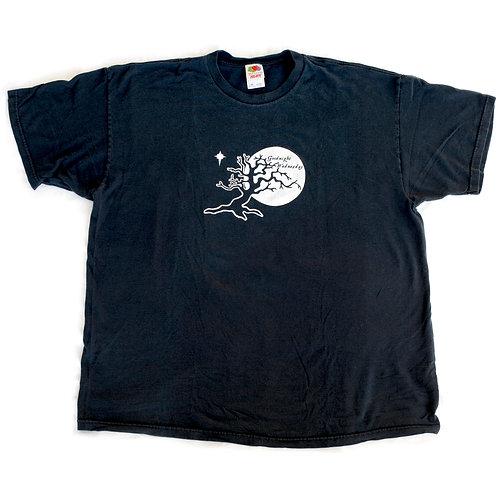 Vintage Goodnight Wednesday Black Graphic T-Shirt - XXL