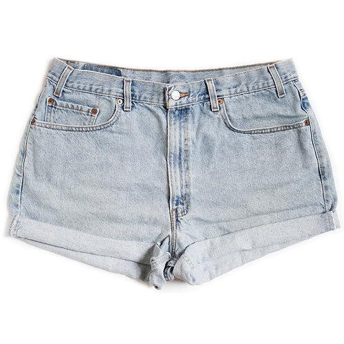 Vintage Levi's Light Wash High Rise Denim Shorts - 38