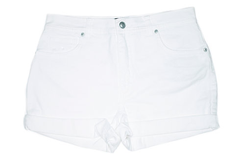 Vintage Gloria Vanderbilt White High Rise Cuffed Shorts - Sz 31