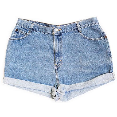 Vintage Gitano Light Wash High Rise Denim Shorts - 36/37
