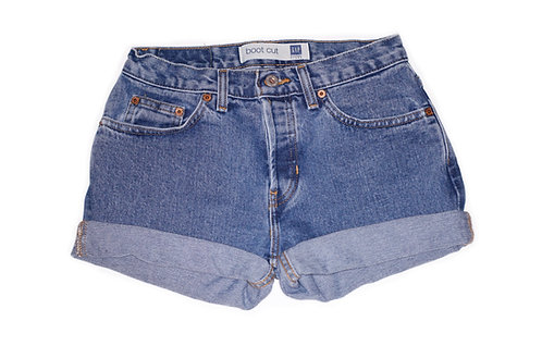 Vintage GAP Medium Wash Mid-High Rise Cuffed Shorts - Sz 24/25