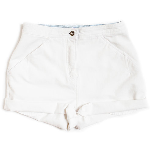 Vintage 90s White High Rise Shorts - 28