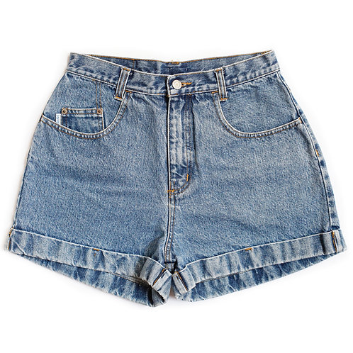 Vintage Esprit High Rise Factory Cuffed Shorts -  28