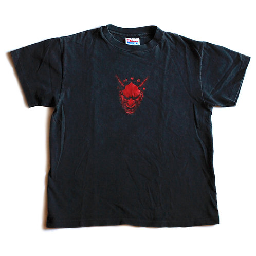 Vintage Nappy Threads Devil Black & Red Short Sleeve Single Stitch Tee / T-shirt