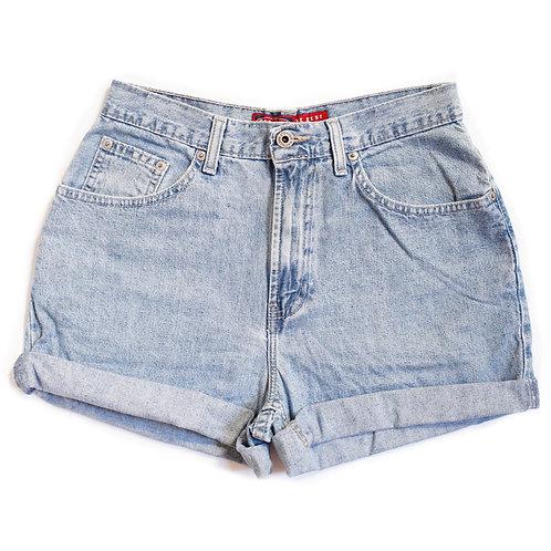 Vintage Light Wash High Rise Shorts - 27
