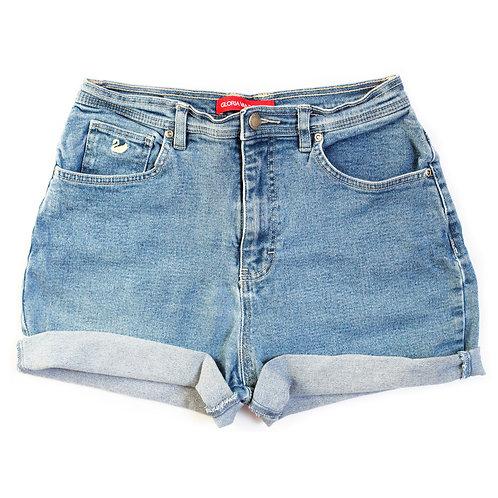 Vintage Medium Wash High Rise Denim Shorts - 30/31