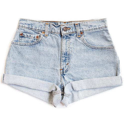Vintage Levi's Light Wash High Rise Denim Shorts  - 26