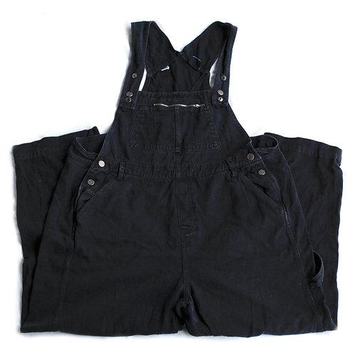 Vintage 80s Goodfellows Black Denim Overalls - XXL
