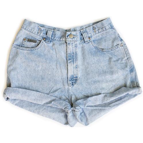 Vintage Lee Light Wash High Rise Denim Shorts - 31