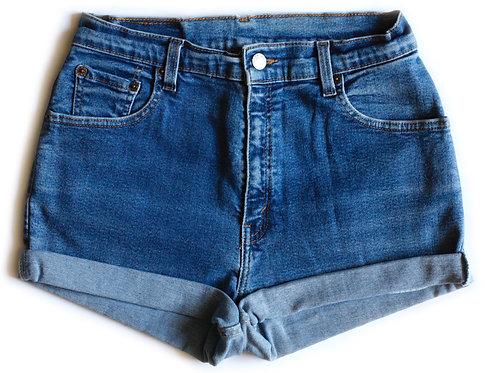 Vintage Levi's High Rise Cuffed Denim Shorts - 31