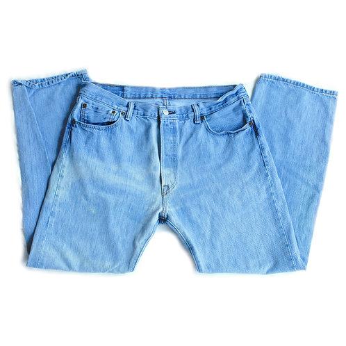 Vintage Men's Levi's 501 Button Fly Straight Fit Blue Denim Jeans Pants - 36x30