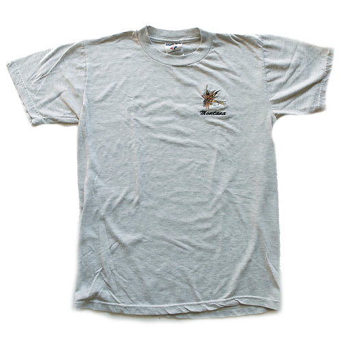 Vintage Montana Embroidered Firefly Heather Gray Short Sleeve Tee