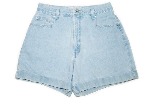 Vintage L.A. Blues Light Wash High Rise Factory Cuffed Shorts - Sz 28