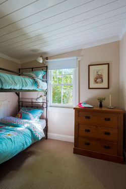 Third bedroom with customized bunks