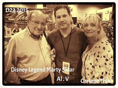 Disney Legend Marty Sklar, and Disney Author Carlene Thie