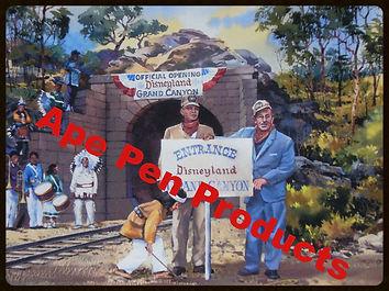 Disneyland Railroad Vintage Photo of Walt Disney and Fred Gurly