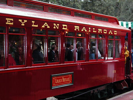 Disneyland Railroad Lilly Belle Car vintage photos